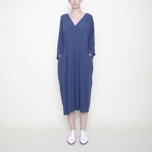 7115 Szeki Pockets Midi Wrap Dress Totokaelo
